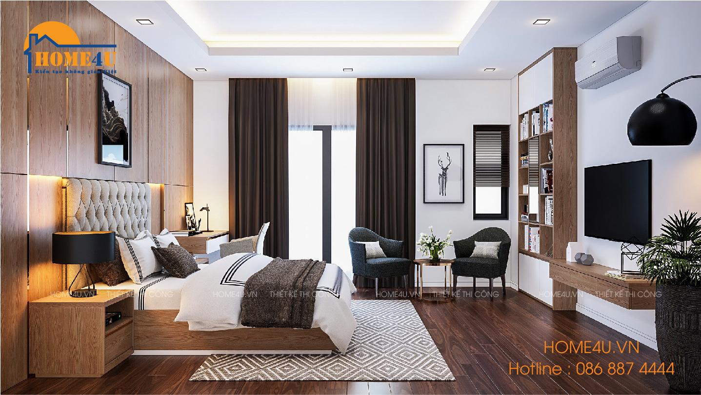 Mẫu thiết kế nội thất biệt thự hiện đại tại Nam Định anh Tuấn - NTBT2011