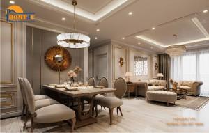 Mẫu thiết kế nội thất chung cư Park Hill tân cổ điển - NTCC2010