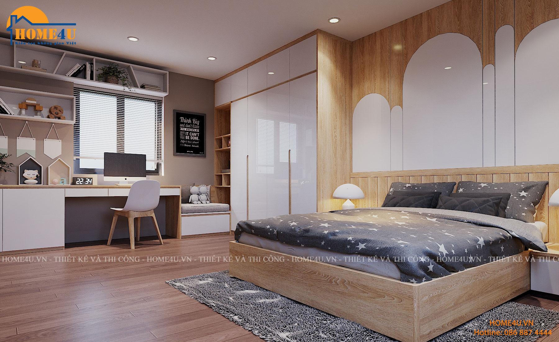 Mẫu thiết kế nội thất biệt thự Vinhomes Ocean Park hiện đại - NTBT2016
