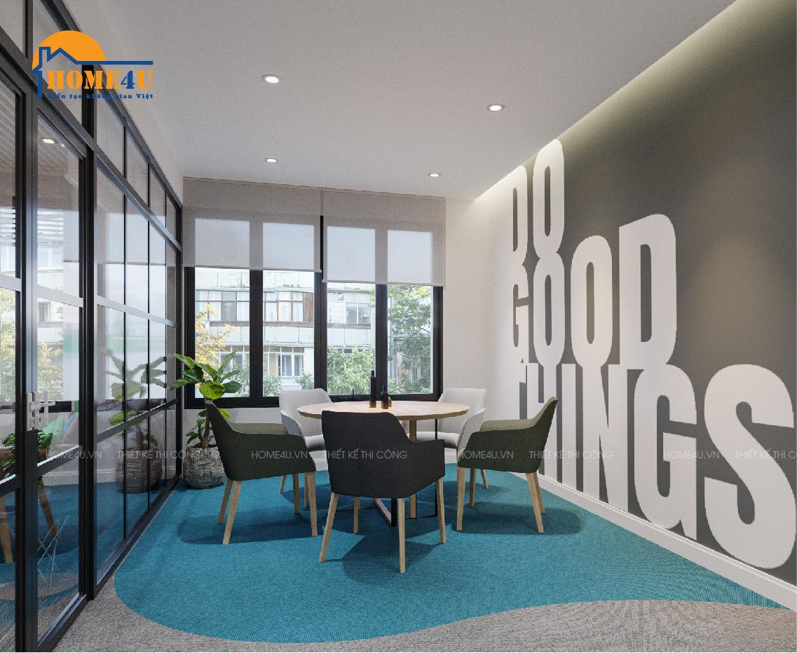 Mẫu thiết kế nội thất văn phòng hiện đại anh Luân - NTVP2003