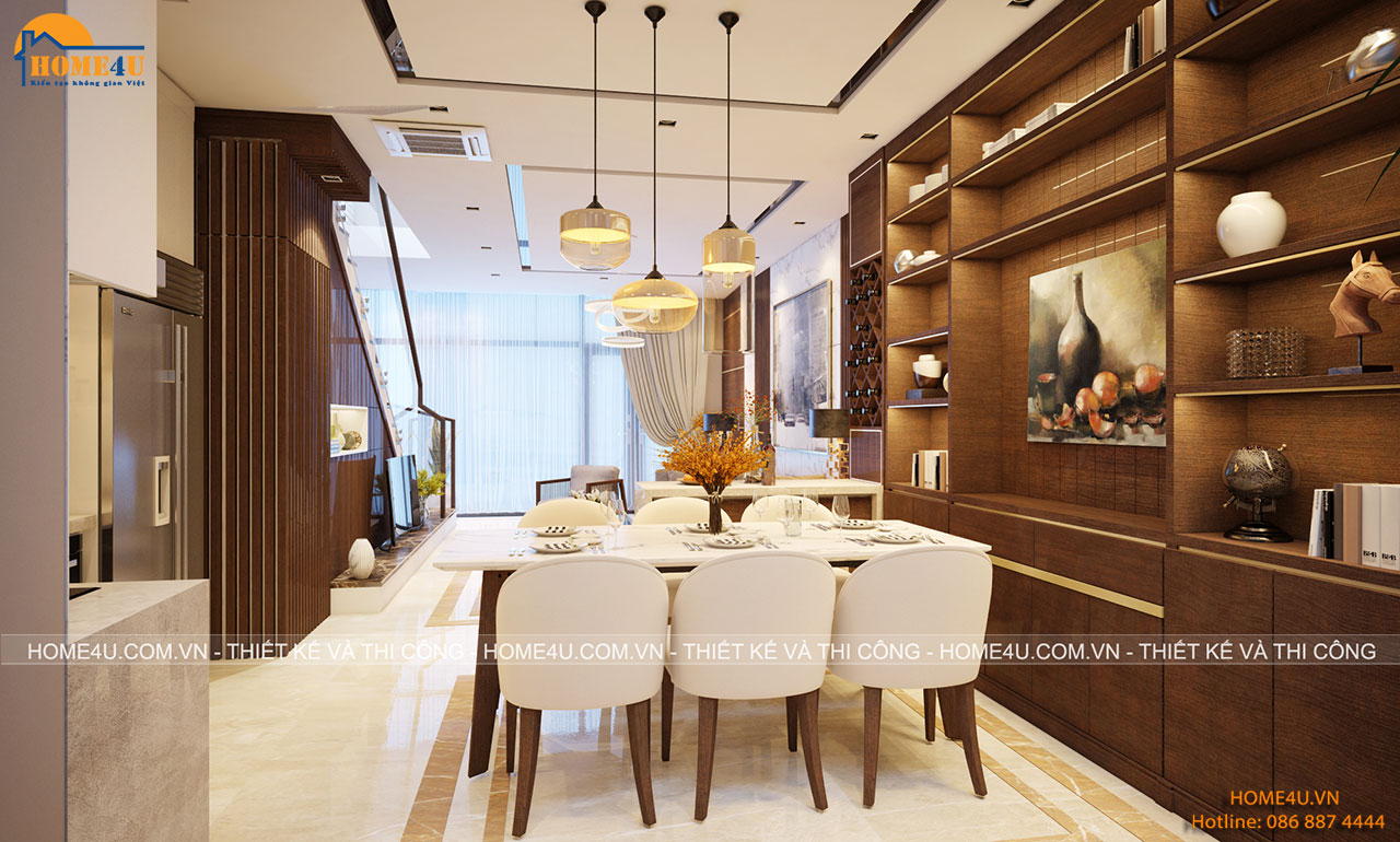 Mẫu thiết kế nội thất biệt thự hiện đại chú Minh - NTBT2012