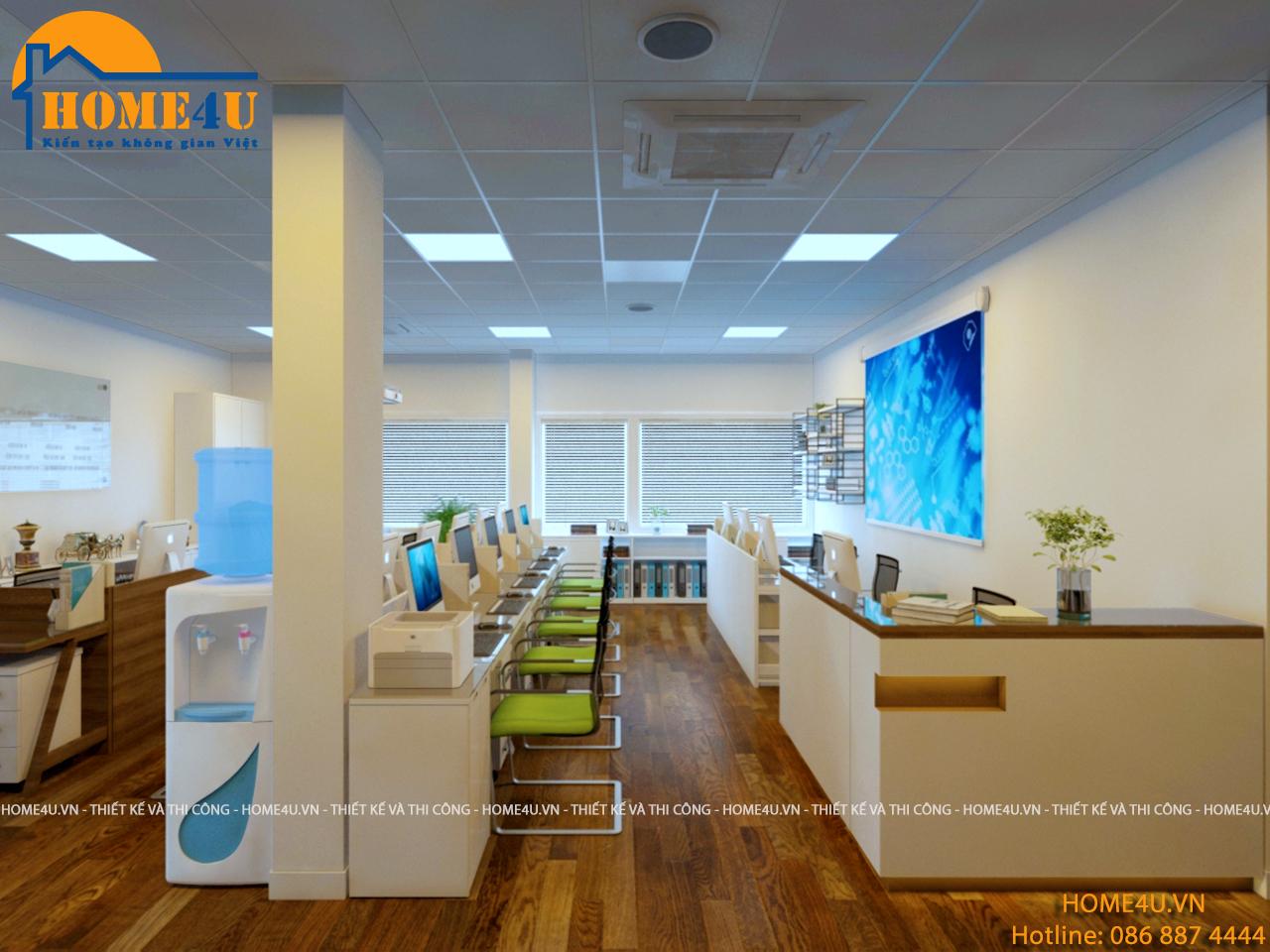Mẫu thiết kế nội thất văn phòng hiện đại anh Nguyên - NTVP2005