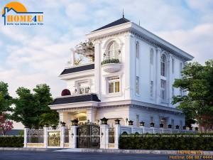 Mẫu thiết kế biệt thự 3 tầng tân cổ điển anh Linh - BT2019