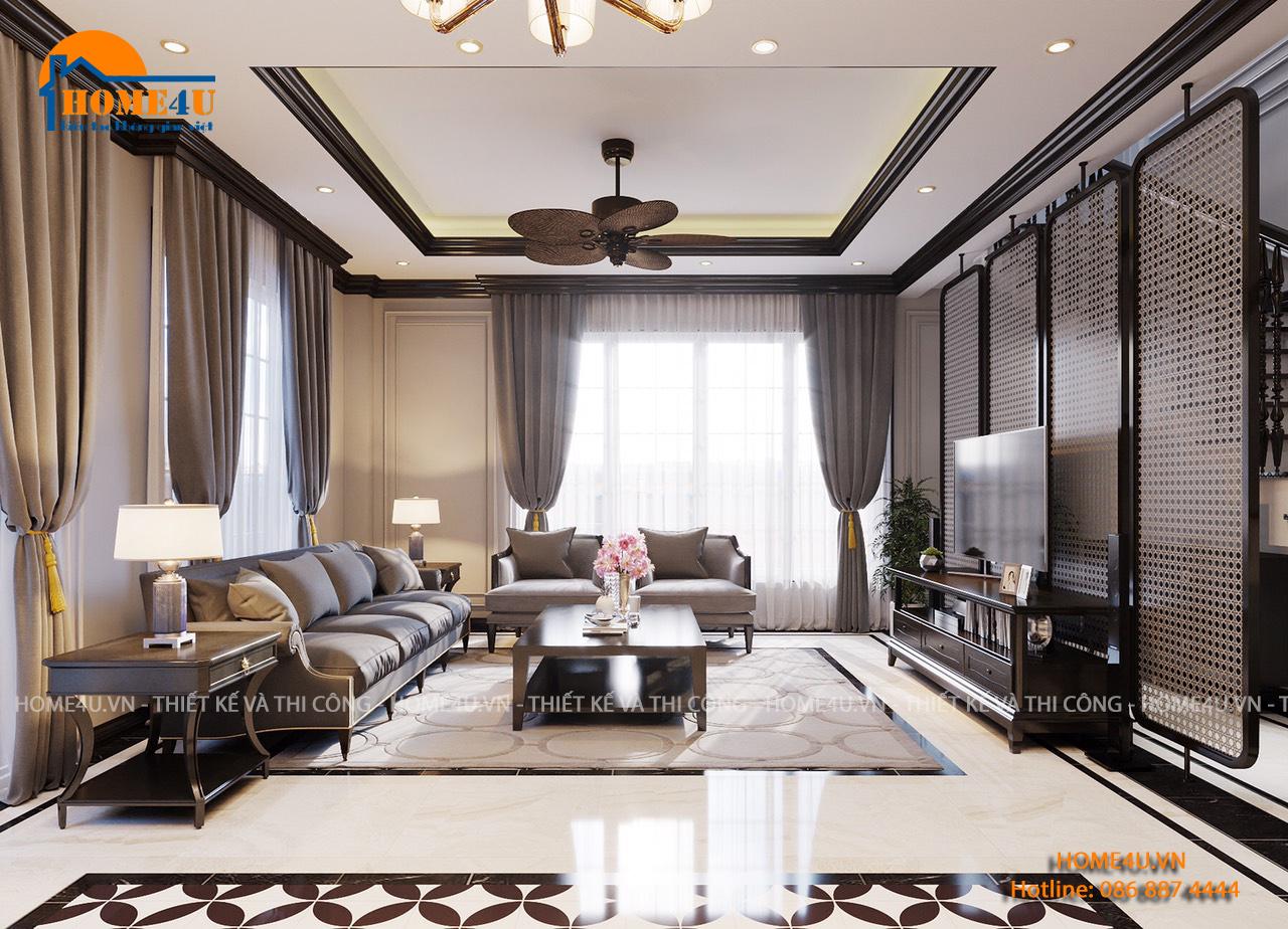 Mẫu thiết kế nội thất biệt thự 2 tầng đẹp - NTBT2017