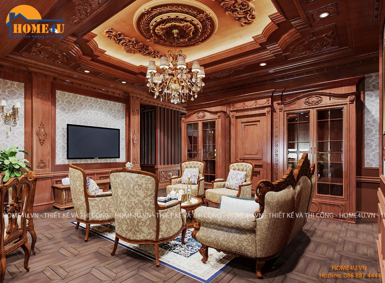 Mẫu thiết kế nội thất biệt thự cổ điển tại Vĩnh Phúc - NTBT2019