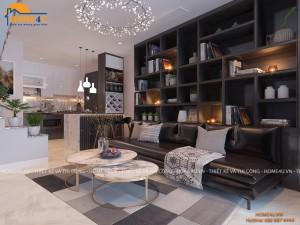 Mẫu thiết kế nội thất nhà lô phố hiện đại - NTNP2007