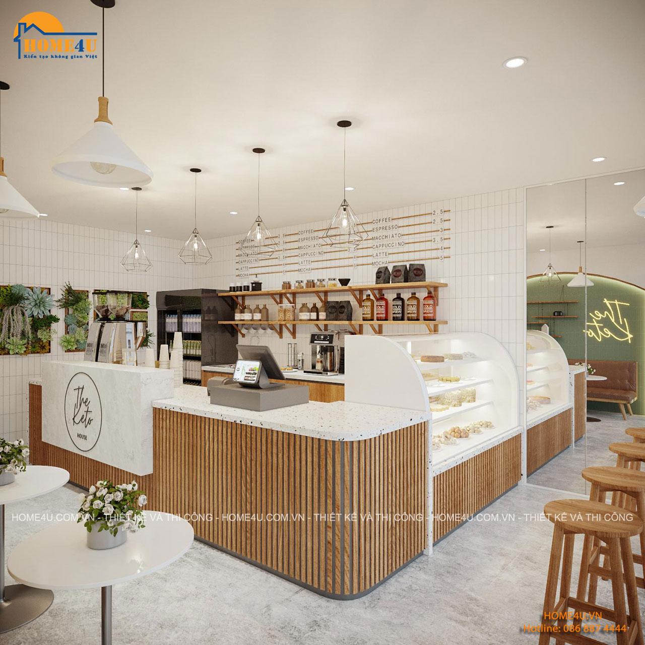 Thiết kế nội thất cửa hàng The Keto House anh Tùng - NTCH2001