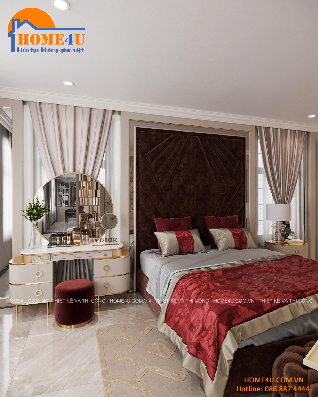 Thiết kế nội thất biệt thự Vườn Đào Tân cổ điển Mr.Hiệp - NTBT2020