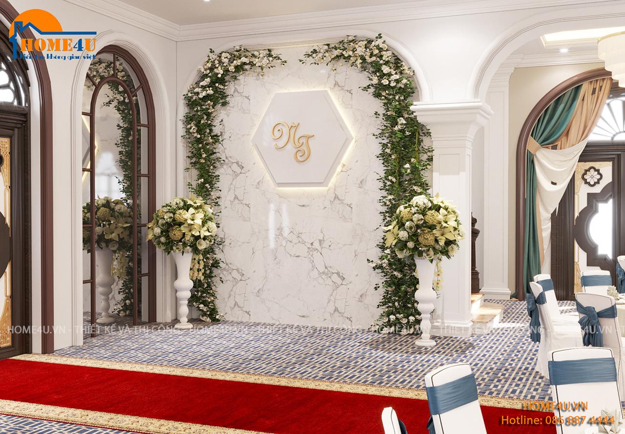 Mẫu thiết kế nội thất trung tâm tiệc cưới tại Hải Dương - NTTC2001