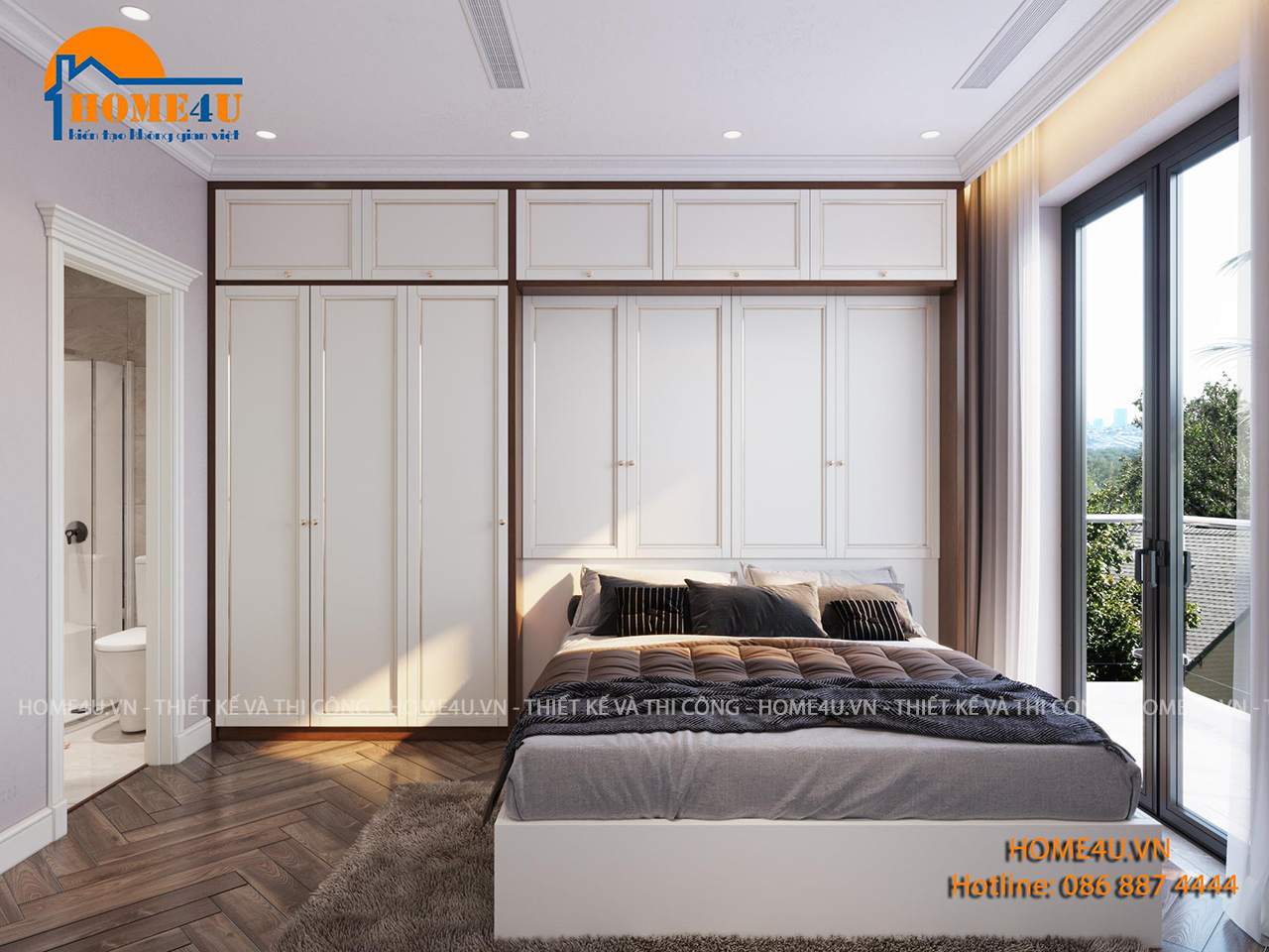 Mẫu thiết kế nội thất nhà phố tân cổ điển anh Thiện - NTNP2003