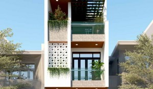 Mẫu thiết kế nhà phố hiện đại - NP2004