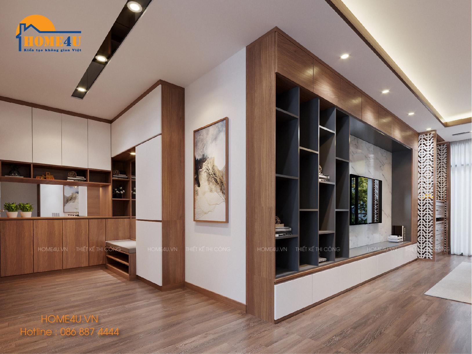 Mẫu thiết kế nội thất chung cư IA 20 CIPUTRA hiện đại - NTCC2004