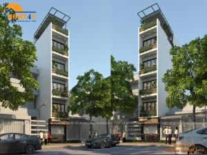 Mẫu thiết kế nhà phố hiện đại - NP2007